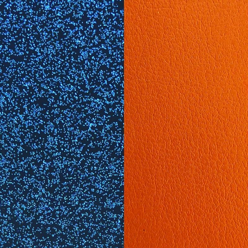 Cuir pour bracelet 8 mm Les Georgettes Glitter bleu/Abricot 703215299CF000