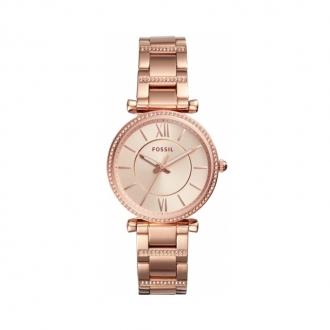 Montre femme Fossil collection Carlie acier dorée rose ES4301
