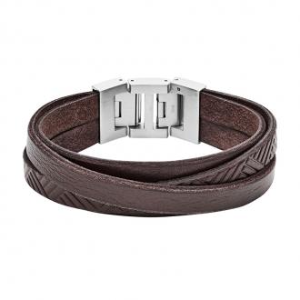 Bracelet FOSSIL en Cuir Marron JF02999040