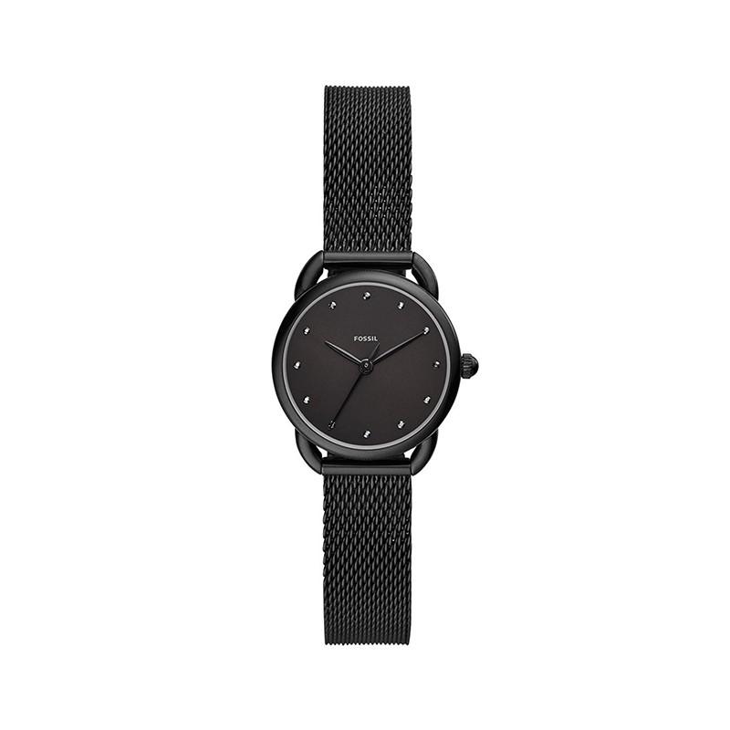 Montre femme Fossil bracelet maille milanaise noire ES4489