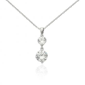 Collier en argent 925/000 et oxydes de zirconium Collection Carador