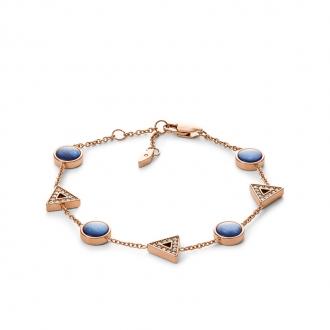Bracelet Fossil Géométrique acier doré rose JF03012791