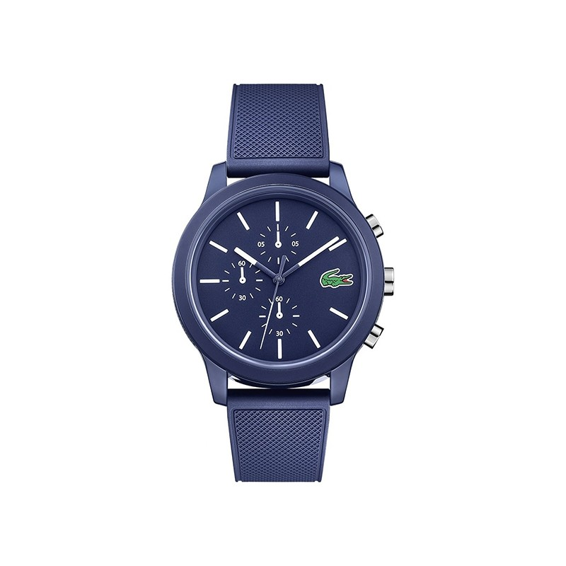 Montre 12.12 Lacoste bracelet silicone bleu 2010970