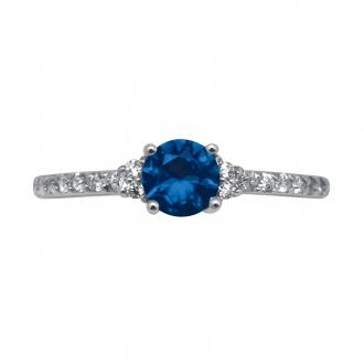 Bague Carador Verre bleu Argent 925/000e