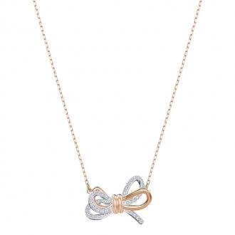 Collier Femme Swarovski Lielong Bow doré rose 5440636