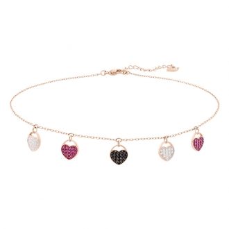 Collier Femme Swarovski Heart Choker doré rose 5472449