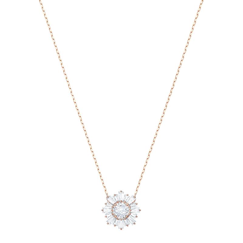 Collier Femme Swarovski Sunshine Pendant doré rose 5451376