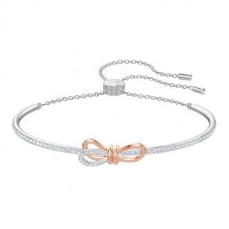 Bracelet jonc Swarovski Lifelong Bow doré rose 5447079