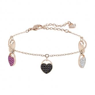 Bracelet Swarovski Heart doré rose 5472444