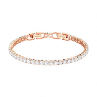 Bracelet Swarovski Tennis métal doré rose 5464948