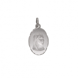 Pendentif Carador Marie or blanc 375/000 661046