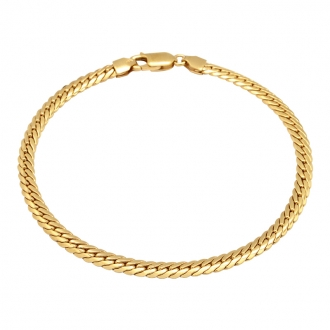 Bracelet Carador or jaune 375/000 maille anglaise 610022.3-18