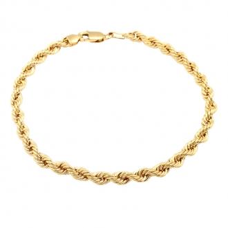 Bracelet Carador or 375/000 maille corde 610030.4-18