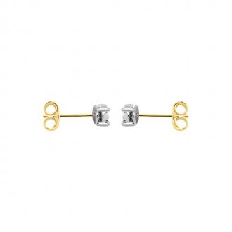 Boucles d'oreilles Carador or 375/000 diamant solitaire DE3142-C