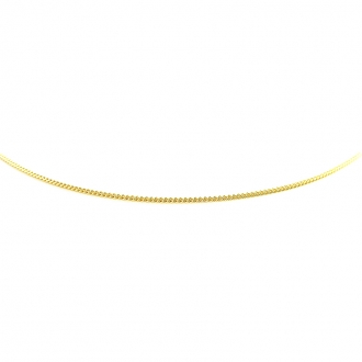 Collier Carador gourmette diamante or 375/000 GDI035MNJ45