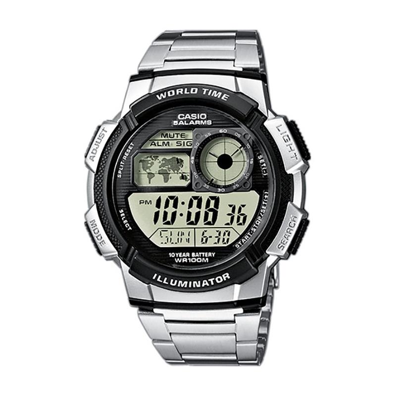 Montre Casio Collection World Time acier AE-1000WD-1AVEF