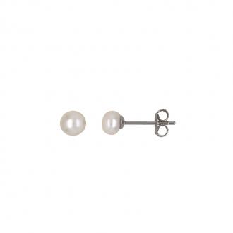 Boucles d'oreilles Carador argent 925/000 et perle 5 mm