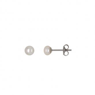 Boucles d'oreilles Carador argent 925/000 et perle 4 mm