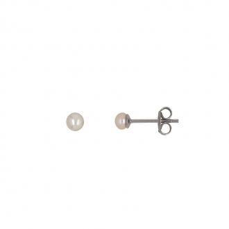 Boucles d'oreilles Carador argent 925/000 et perle 3 mm