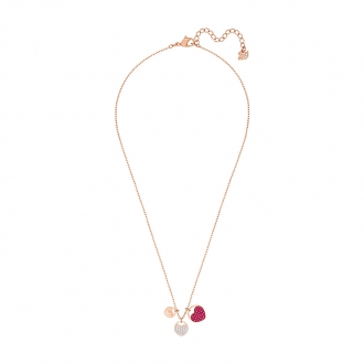 Collier Swarovski Ginger plaqué or rose, cristal rose 5472446