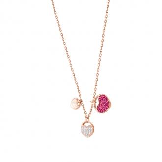 Collier Swarovski Ginger plaqué or rose, cristal rose 5472446