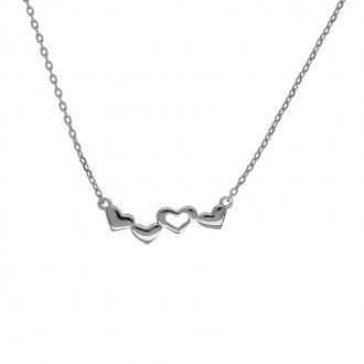 Collier Carador motif cœurs argent 925/000