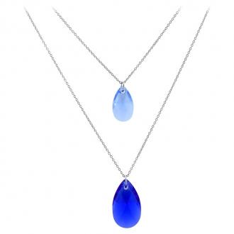 Collier Indicolite 2 Larmes cristaux bleus CO -SABINE-296