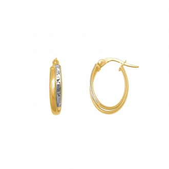 Boucle d'oreille Carador or jaune 375/000