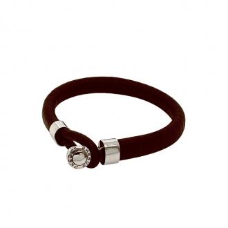 bracelet Phebus homme en cuir marron foncé