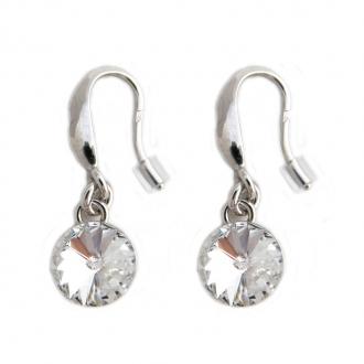 Boucles d'oreilles Indicolite Emily cristal blanc BOCR-EMI-001