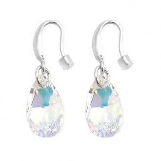 Boucles d'oreilles Indicolite Larme cristal blanc BOCR-LARM-001AB