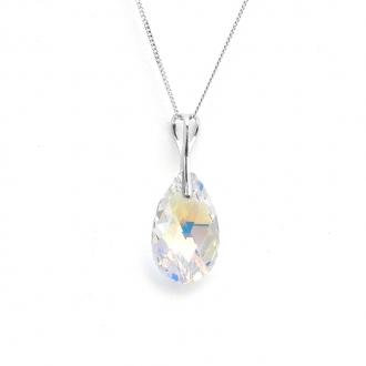 Collier Indicolite Larme cristal blanc CO-LARM-001AB