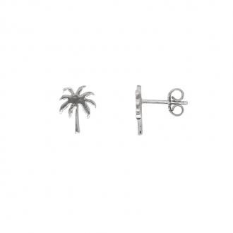 Boucles d'oreilles palmier Carador en argent 925/000