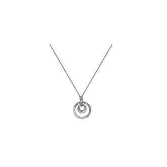 Collier carador en or blanc 375/000 et diamant