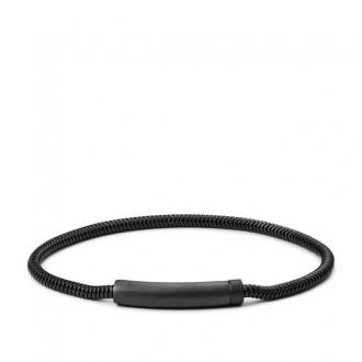 Bracelet FOSSIL en maille serpent et acier inoxydable noir