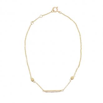 Bracelet carador en or 375/000 et baguette diamant