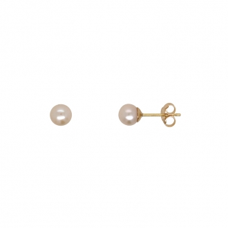Boucles d'oreilles Carador perles 5 mm en or 375/000