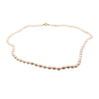 collier de perles grain de riz 4 mm Carador en or 375/000