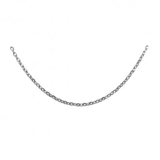 Chaîne argent 925/000 Carador maille forçat diamantée longueur 40cm