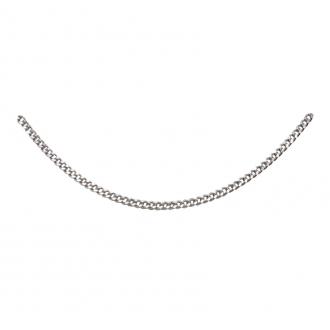 Chaîne argent 925/000 Carador maille gourmette diamantée longueur 60cm Largueur 2mm
