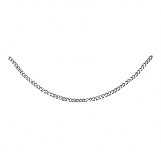 Chaîne argent 925/000 Carador maille gourmette diamantée longueur 55cm. Largueur 1mm
