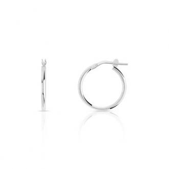 Boucles d'oreilles créoles argent 925/000 Diamétre 1.6cm.DJ421-2207