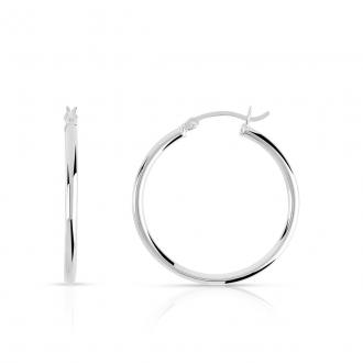 Boucles d'oreilles créoles argent 925/000 Diamétre 4.6cm. DJ421-2506