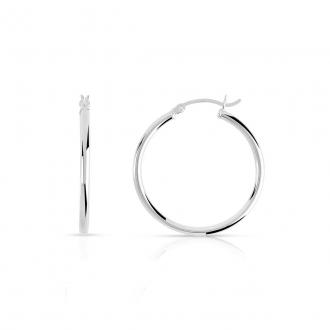 Boucles d'oreilles créoles argent 925/000 Diamétre 3.6 cm.DJ421-2406
