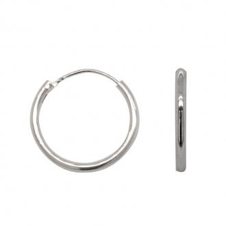 Boucles d'oreilles créoles argent 925/000 Diamétre 1,4 cm DJ4101.5162