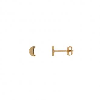 Boucles d'oreilles puces Carador lune en or 375/000