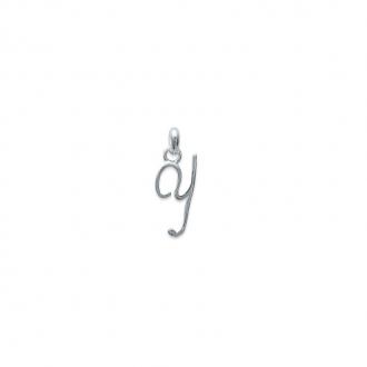 Pendentif initiale lettre Y en argent 925/000. 748115525-Carador