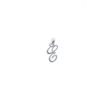 Pendentif initiale lettre E en argent 925/000. 74811555-Carador