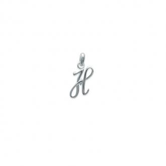 Pendentif initiale lettre H en argent 925/000. 74811558-Carador