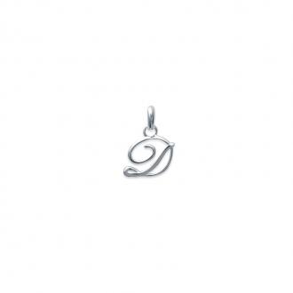 Pendentif initiale lettre D en argent 925/000. 74811554-Carador